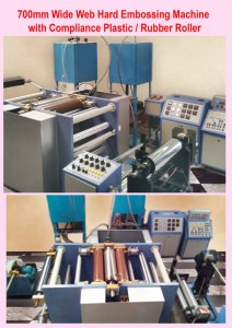 Wide Web Hard Embossing Machine